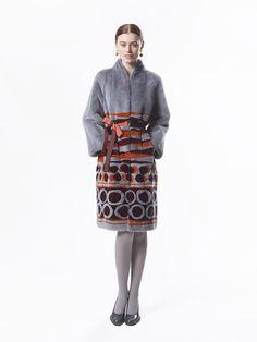 Guiliana Teso Multi Dyed Mink Fur Coat