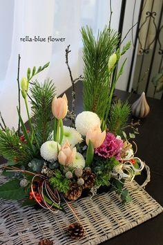 お正月のアレンジメント☆|静岡市フラワーアレンジメンント教室&ブーケサロン レラブルー rella-blue flower
