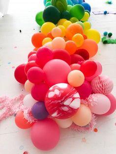 Rainbow Balloon Centerpiece