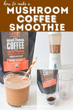 Superfood Smoothie: How to Make a Mushroom Coffee Smoothie Dark Roast, Superfood, Smoothie, Drinking, Stuffed Mushrooms, Coffee, Stuff Mushrooms, Kaffee, Beverage