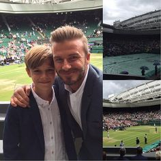 'Wimbledon day with my little man': David was quick to share picture of their day out with...