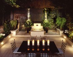 The latest tips and news on outdoor patio lighting are on Garden. On Garden you will find everything you need on outdoor patio lighting. Outdoor Rooms, Outdoor Dining, Outdoor Gardens, Outdoor Retreat, Patio Lighting, Landscape Lighting, Lighting Ideas, Lighting Design, Driveway Lighting
