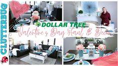 ❤️Dollar Tree 2020 - Decor Ideas & Haul for Valentine's Day ❤️ Dollar Tree Decor, Home Organization Hacks, Decorating Tips, Diy Home Decor, Valentines Day, Decor Ideas, Make It Yourself, Clutter, Creative Ideas