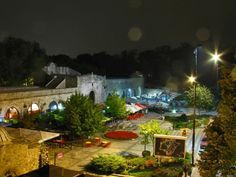 Nis fortress by night, Serbia