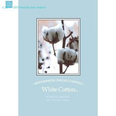 Bridgewater Candle Geurzakje White Cotton.