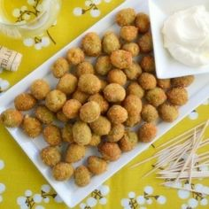 There's no way around it, you just have to taste these Fried Olives to understand how outrageously delicious they are