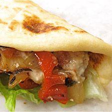 caesar grilled chicken wrap
