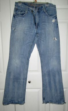 American Eagle Low Rise Boot Cut Jeans Men's Size 34/34 A&E Cotton 5 Pocket #AmericanEagleOutfitters #BootCut