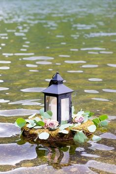 Equinox Pond Wedding Vermont Flowers by Cara Pond Wedding, Wedding Flowers, Dream Wedding, Pond Decorations, Wedding Decorations, Rustic Outdoor Decor, Country Wedding Gifts, Chinese Paper Lanterns, Floating Flowers