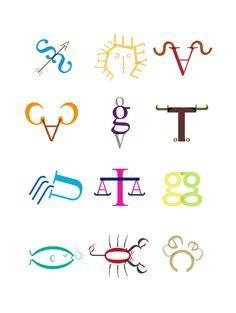 typography zodiac