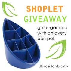 #Win an Eco Friendly Avery Pen Pot! Repin, then go to our blog and comment letting us know why you love organising :) *UK RESIDENTS ONLY* Good luck! #GIVEAWAY