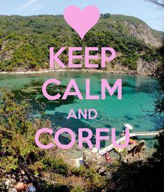 Keep Calm and Corfu - this photo was taken on the Kayak Safari at The Pink Palace in Corfu Greece