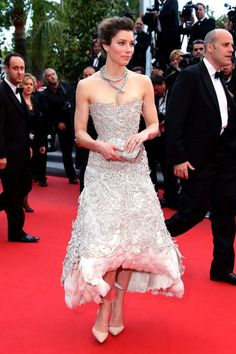 The absolute best of Cannes red carpet fashion: Jessica Biel in Marchesa in 2013.