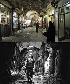 Syria's heritage in ruins : before-and-after pictures / Martin Chulov + The Guardian | #syria