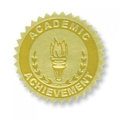Academic Achievement Gold Foil Embossed Certificate Seals spruce up any achievement award, certificate, or diploma. End of the year teaching supplies. Student Incentives, Classroom Incentives, Certificate Of Achievement, Award Certificates, Embossed Seal, Teaching Supplies, Challenge Coins, Moon Art, Fun Learning