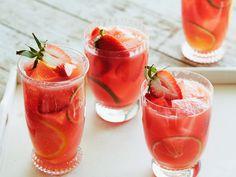 Watermelon-Strawberry Sangria recipe from Bobby Flay via Food Network