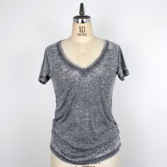 Burnout V-Neck Tee Black looks TOO comfy to pass up