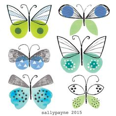I Drew these butterflies in my lunch break, back to work now #butterflies #illustration #design