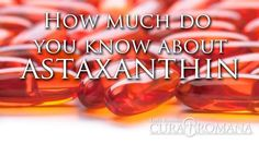Astaxanthin is a super anti-inflammatory as well. Protects from Cellular Damage to the Eyes and the Skin. Help Protect us from Nuclear Radiation