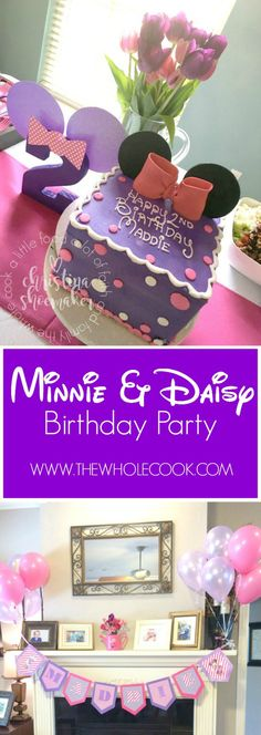 Minnie & Daisy Birthday Party: Perfect for little girls! You'll love these food ideas, decor, & party favors.