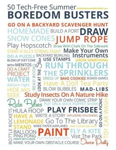 """Looking for some inexpensive and tech-free ways to keep your kids entertained this summer? This cute free Summer Boredom Busters Printable would be perfect to hang on your fridge and then next time you hear """"I'm Bored"""" you'll have ideas right at your fing Summer Fun For Kids, Free Summer, Summer Activities For Kids, Fun Activities, Parenting Articles, Parenting Teens, Parenting Hacks, Boredom Busters For Kids, Summer Boredom"""