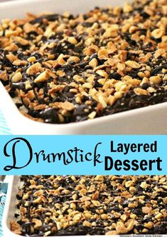 Drumstick Layered Dessert dessert sweet chocolate recipe food layereddesserts picnic summer holiday Memorialday LaborDay drumstick is part of Desserts - Layered Desserts, Ice Cream Desserts, Köstliche Desserts, Frozen Desserts, Summer Desserts, Ice Cream Recipes, Chocolate Desserts, Dessert Recipes, Chocolate Chips