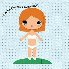 Custom Paper Doll - Printable Paper Doll - Paper Doll PDF - Paper Doll Printout