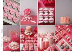 """""""Pinkalicious"""" Valentine dessert bar by Amy Atlas. Definitely some good ideas in there! Pink Desserts, Valentines Day Desserts, Valentine Treats, Valentines Day Party, Valentine Day Crafts, Holiday Treats, Holiday Fun, Valentine Cupcakes, Valentine Nails"""