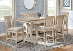 Nantucket Breeze White 5 Pc Counter Height Dining Room-Dining Room SetsWhite