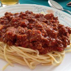 Ma sauce à spaghetti Tortellini, Instant Pot, Sauce Bolognaise, Spaghetti Sauce, Allrecipes, Mets, Pasta Dishes, Gravy, Pizza