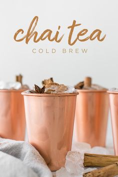 Chai Tea Cold Brew Recipe - Sugar and Charm Masala Chai, Tea Recipes, Coffee Recipes, Chai Tea Recipe, Cold Brew Coffee Recipe, Te Chai, Latte, Blackberry Smoothie, Fall Drinks