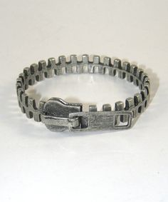 Zipper Bangle in Pewter