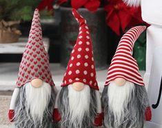 Patriotic of July Gnome - Uncle Sam Gnome - Red, white and blue gnome - Stars and Stripes Gnome - American Gnome - Nisse - Tomte - Doll Christmas Wine, Felt Christmas Ornaments, Christmas Gnome, Beaded Ornaments, Handmade Ornaments, Christmas Wreaths, Christmas Porch, Handmade Decorations, Handmade Christmas