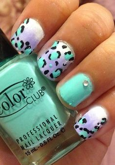 Animal print nails!  Love this!