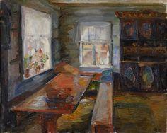 halfdan holbø(1907-95), interior from upper island, 1927. oil on canvas http://lillehammerartmuseum.com/kunstverk/halvdan-holbo-interior-fra-ovre-oy/?lang=en