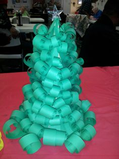 #Paper #crafts #christmas #tree #curly