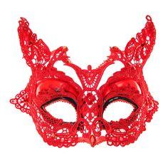 Loup diabolique en dentelle rouge , Halloween, tous, Masques, Halloween, Déguisements et robes de costume , Accessoires, Costumes pour Halloween, Diable, Halloween pour les jeunes, Quoi de neuf - Tendances, accessoires et bijoux pour jeunes femmes