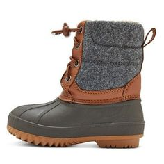 Toddler Boys' Hans Bungee Pull Winter Boots - Cat & Jack - Gray XL, Size: XL (11-12)