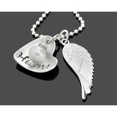 Eine wunderschöne 925 Sterling Silber Kette mit einem Namensanhänger (Herzform)…