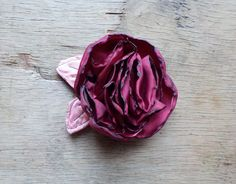 Cherry Red Satin Rose Hair Clip - Red Rose Flower Brooch - Red Flower Pin - by Fairytale Flower by FairytaleFlower on Etsy