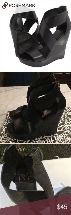diane von furstenberg black platform sandals sz 8 diane von furstenberg black platform sandals sz 8 worn just a few times in great condition Anthropologie Shoes Platforms