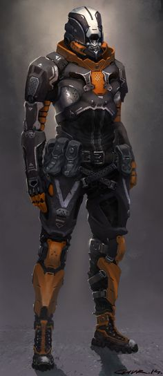 Some Future Soldier , Max Gavr on ArtStation at https://www.artstation.com/artwork/some-future-soldier