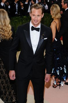 Alexander Skarsgard at the Met Gala on 5/2/16