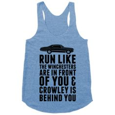 Run Like The Winchesters | Activate Apparel | T-Shirts, Tanks, Sweatshirts and Hoodies