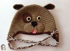 MADRES HIPERACTIVAS: Gorro Perrito a Crochet, Patrón Gratis