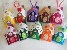 Over The Top Adorable Is The Word For These Yummy Handmade Felt Gingerbread House Ornaments, Choose From 20 Colors Any Two For One Low Price