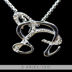 5 Aries and Leo Silver Unity Pendant