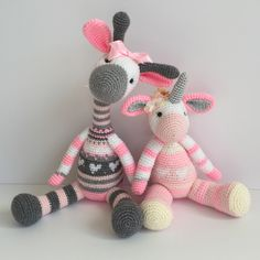 Amigurumi Giraffe and unicorn   Besties