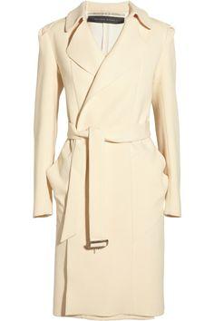Roland Mouret|Textured Wool & Silk Coat