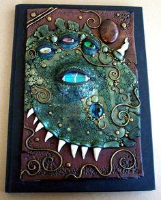 Beast Journal Polymer Clay by *MandarinMoon on deviantART